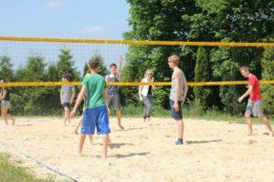 Volleyball Spielen bei den Young Days 2015   CBG Fulda Kohlhaus