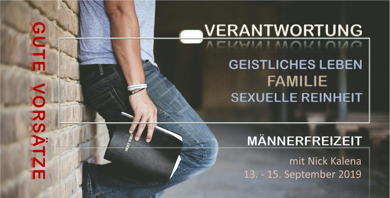 Vorderseite Einladung zur Männerfreizeit 2019 - Verantwortung | CBG Fulda Kohlhaus